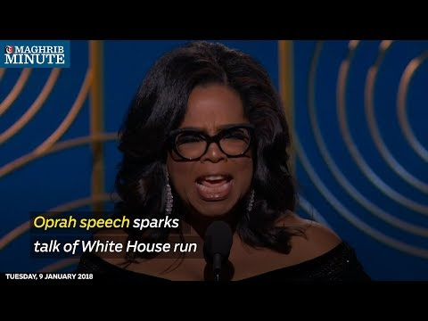 Oprah Winfrey's rousing speech at the Golden Globes was still reverberating on Monday
