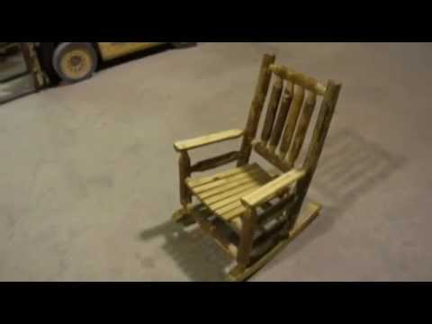 Amish Glacier Country Log Child's Rocker