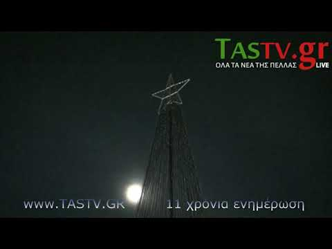 Video - ΕΔΕΣΣΑ: ΑΝΑΜΜΑ ΧΡΙΣΤΟΥΓΕΝΝΙΑΤΙΚΟΥ ΔΕΝΔΡΟΥ [VIDEO PHOTOS]