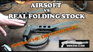 Airsoft Stock Vs. Real Stock Video!
