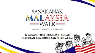 The Anak-Anak Malaysia Walk 2016 was a great success with about 6,000 participants walking in support of moderation and harmony. Registration is open for #AnakAnakMalaysia Walk 2017 until Aug 5 and can be made at http://sites.thestar.com.my/aamwalk/