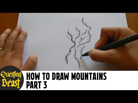 How to Draw Mountains - Part 3: Fantasy Map Making Tutorial for DnD