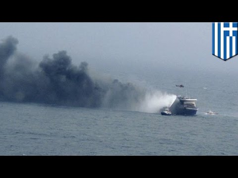 Ferry fire on Adriatic Sea leaves at least one man dead, hundreds wait in the cold for rescue
