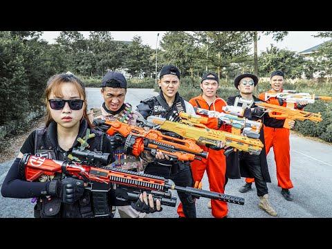 LTT Nerf War : Couple SEAL X Warriors Nerf Guns Skill Sniper Fight Dr.Lee Crazy Restore Hope