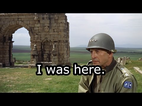 Patton (1970): 27:32 - 30:21 (reincarnation scene)