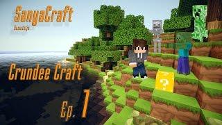 Minecraft Crundee Craft 1. rész Ülve beszélgető Skeletonok.