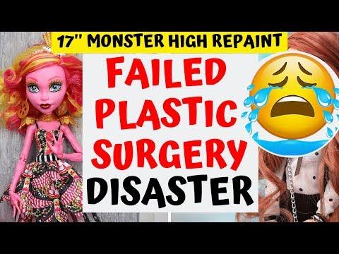 DESTROYED EXPENSIVE DOLLS FACE / FAILED PLASTIC SURGERY FOR MONSTER HIGH / HOW TO SCULPT DOLL HEAD_A plasztikai sebészet kulisszatitkai. Heti legjobbak