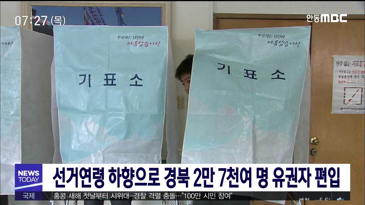 선거연령 하향으로 경북 2만 7천여 명 유권자 편입