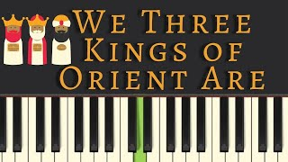 Video Easy Piano Tutorial: We Three Kings of Orient Are, with free sheet music MP3, 3GP, MP4, WEBM, AVI, FLV Juni 2018