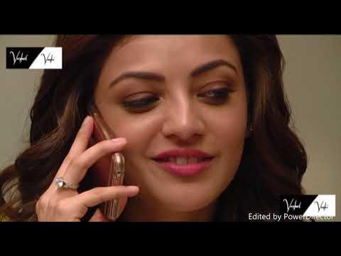 tamil actress kajal Agarwal latest hot lips and phone talk