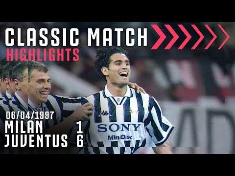 Milan 1-6 Juventus | Jugovic, Zidane, Vieri & Amoruso Dominate in Milan! | Classic Match Highlights