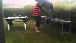 Churrasco na chuva