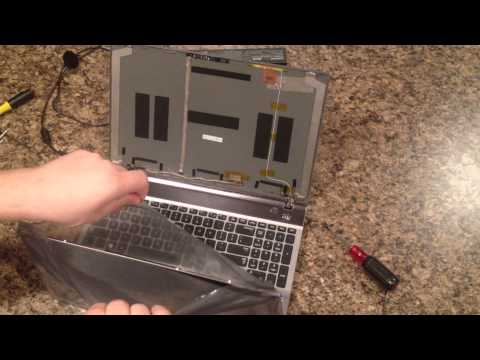 Laptop screen replacement / How to replace laptop screen [Samsung NP550P5C]