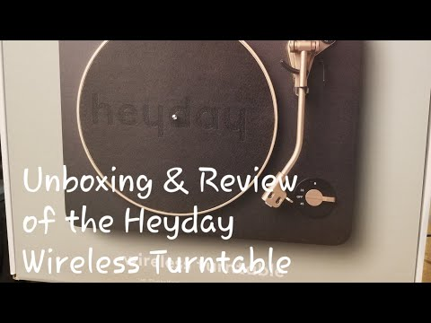 Home Audio Unboxing: Target's Heyday Dual Bluetooth Wireless and Analog Turntable with Full Review
