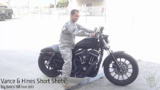 10. 2008 Harley-Davidson Sportster Iron 883 with Vance & Hines Duke and Short Shots