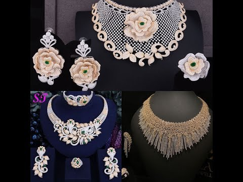 WHITE gold necklace design collection // Dubai diamond necklace