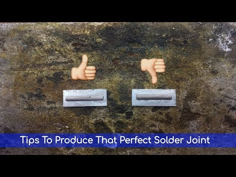 Tips To Produce That Perfect Solder Joint With Minimal Cleaning Up Saving You Both Time And Money