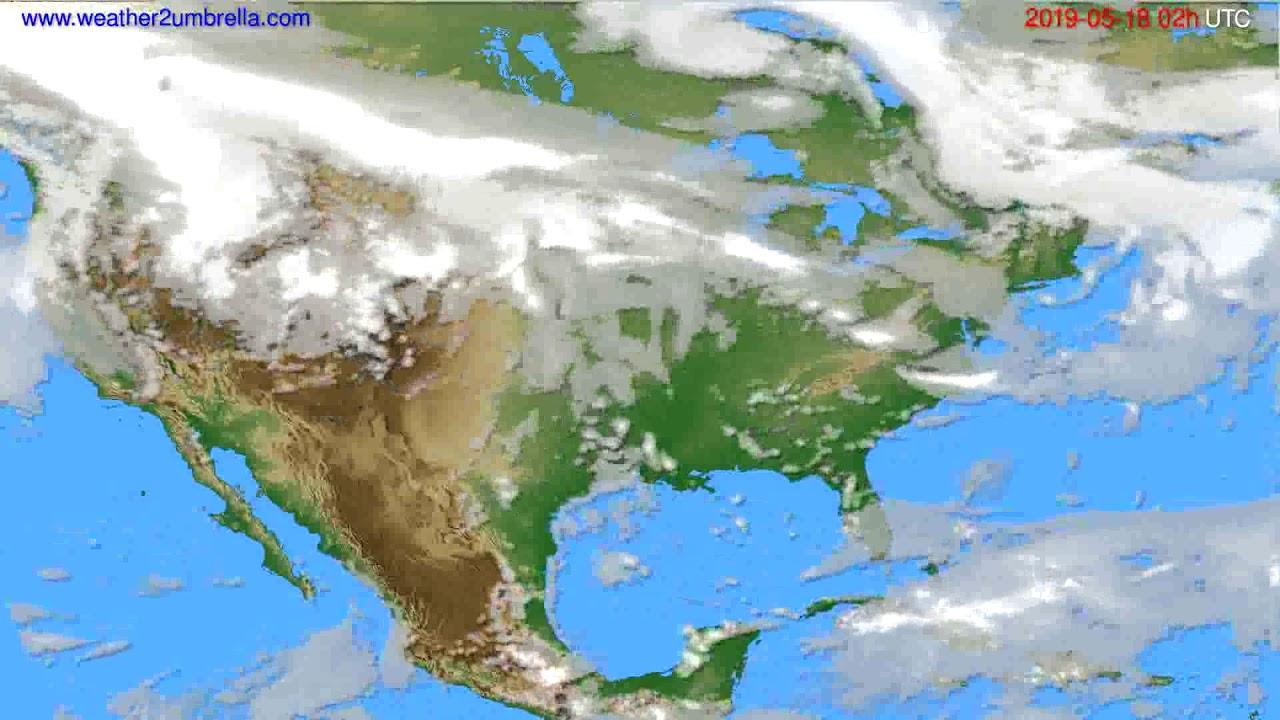 Cloud forecast USA & Canada // modelrun: 00h UTC 2019-05-16