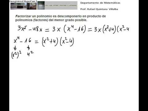 Vídeos Educativos.,Vídeos:Factorizar polinomios II