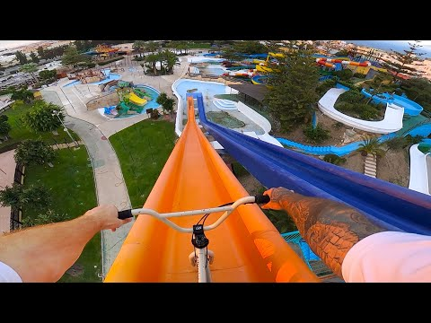 RYAN TAYLOR - FULL SPEED BMX IN A WATERPARK!
