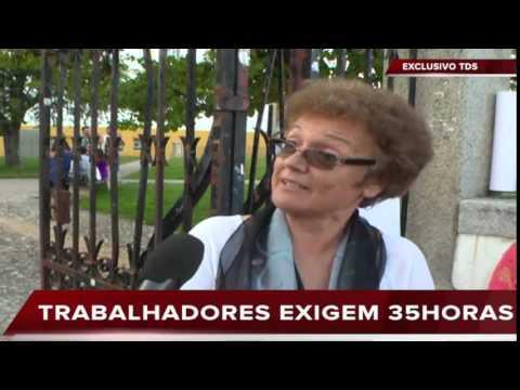 PROTESTO NA UNIVERSIDADE DE ÉVORA DOS FUNCIONÁRIOS NÃO DOCENTES