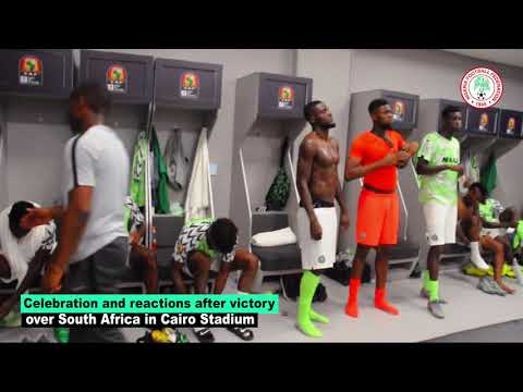 How the Super Eagles celebrated victory against South Africa