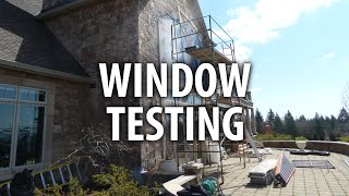 Jobsite Window Testing - J2 Building Consultants