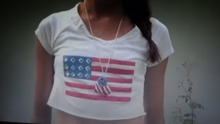 DIY American Flag Shirt -HowToByJordan - YouTube