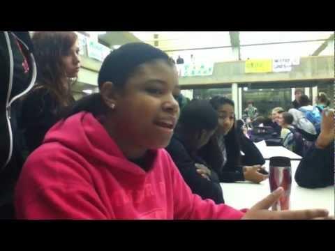 rapping - Rap battle. Girl makes boy choke.