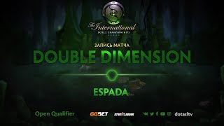Double Dimension против Espada Esports, Первая карта, Открытая СНГ квалификация к TI8