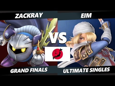 Japan Smash Ultimate Tournament - Zackray (Meta Knight) Vs. Eim [L] (Sheik) SSBU Grand Finals