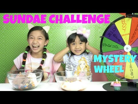 MYSTERY WHEEL OF SUNDAE CHALLENGE