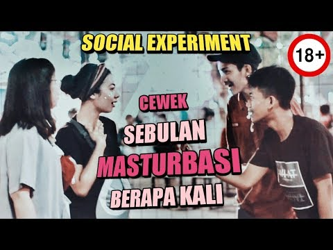 CEWEK SEBULAN MASTURBASI BERAPA KALI ? ||Social Experiment||