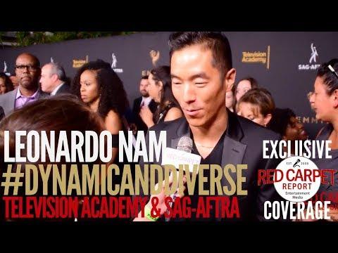Leonardo Nam #Westworld interviewed at 5th Dynamic & Diverse Television Academy & SAG-AFTRA Party