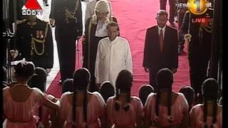 President Sirisena addressing the 8th Parliament of Sri Lanka