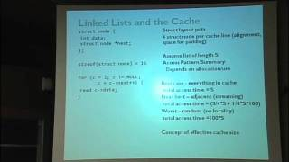 Lec 7 | MIT 6.172 Performance Engineering Of Software Systems, Fall 2010