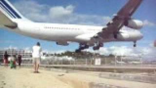 Air France A340 Maho Beach.
