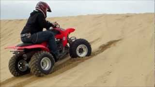 2. Honda TRX 250EX My First Time Riding ATV Oceano Dunes Canon PowerShot ELPH 110 HS Video Test