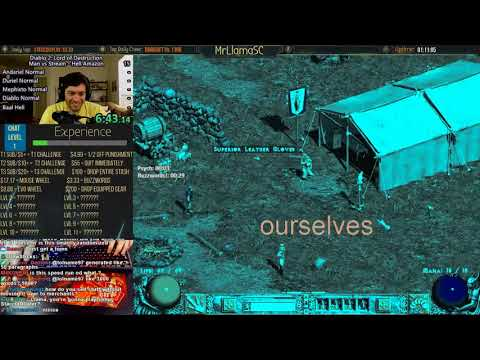 This is Diablo 2 in 2018 - Man vs Stream Hell Amazon Pt 1
