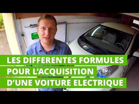 Les différentes formules pour l'acquisition d'une voiture électrique