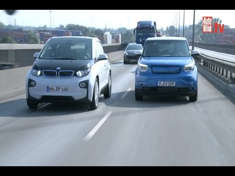 Elektro-Sensation: KIA Soul EV vs. BMW i3 (2014)