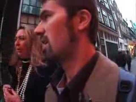 Shane O tours the RED LIGHT DISTRICT in AMSTERDAM with a crazy lady (NYATG)