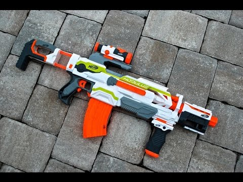 [REVIEW] Nerf N-Strike Modulus ECS-10 Unboxing, Review, & Firing Test
