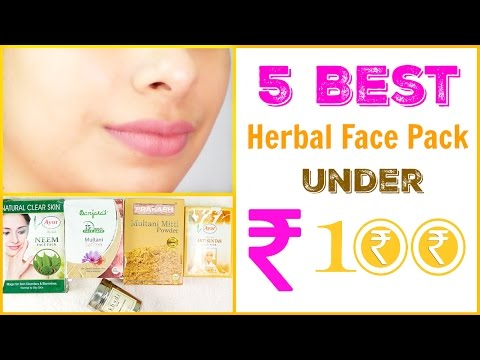 5 Best Herbal Face Pack Under Rs. 100 || Get Spotless, Beautiful Skin