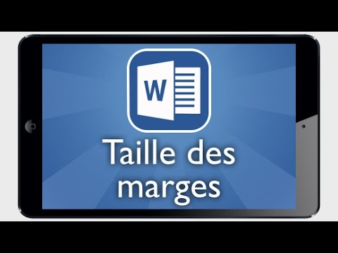 comment modifier marge word