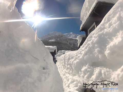 Macugnaga pod snehom! - ©Il canale di Macugnaga