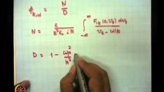 Mod-01 Lec-35 Landau Damping And Growth Of Waves