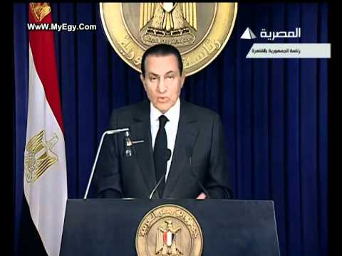 mubarak - The Egyptian's President Hosni Mubarak's latest speech concerning the current protests In Egypt which lasted for about one month till now Mubarak declared th...