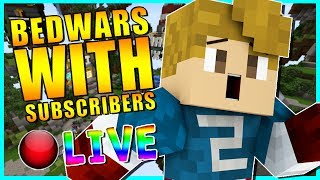 • NEW BEDWARS WITH SUBSCRIBERS!?   MINECRAFT LIVESTREAM   COME HANG OUT!