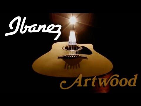 Giacomo Castellano on his Ibanez Artwood Acoustic guitar.